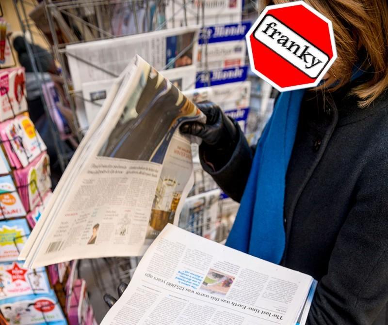 Géén papieren krant! Begrepen?