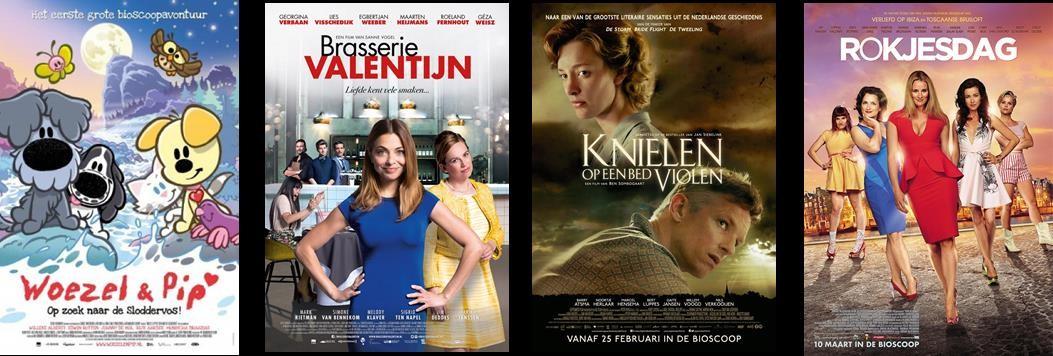2015 was topjaar voor bioscopen