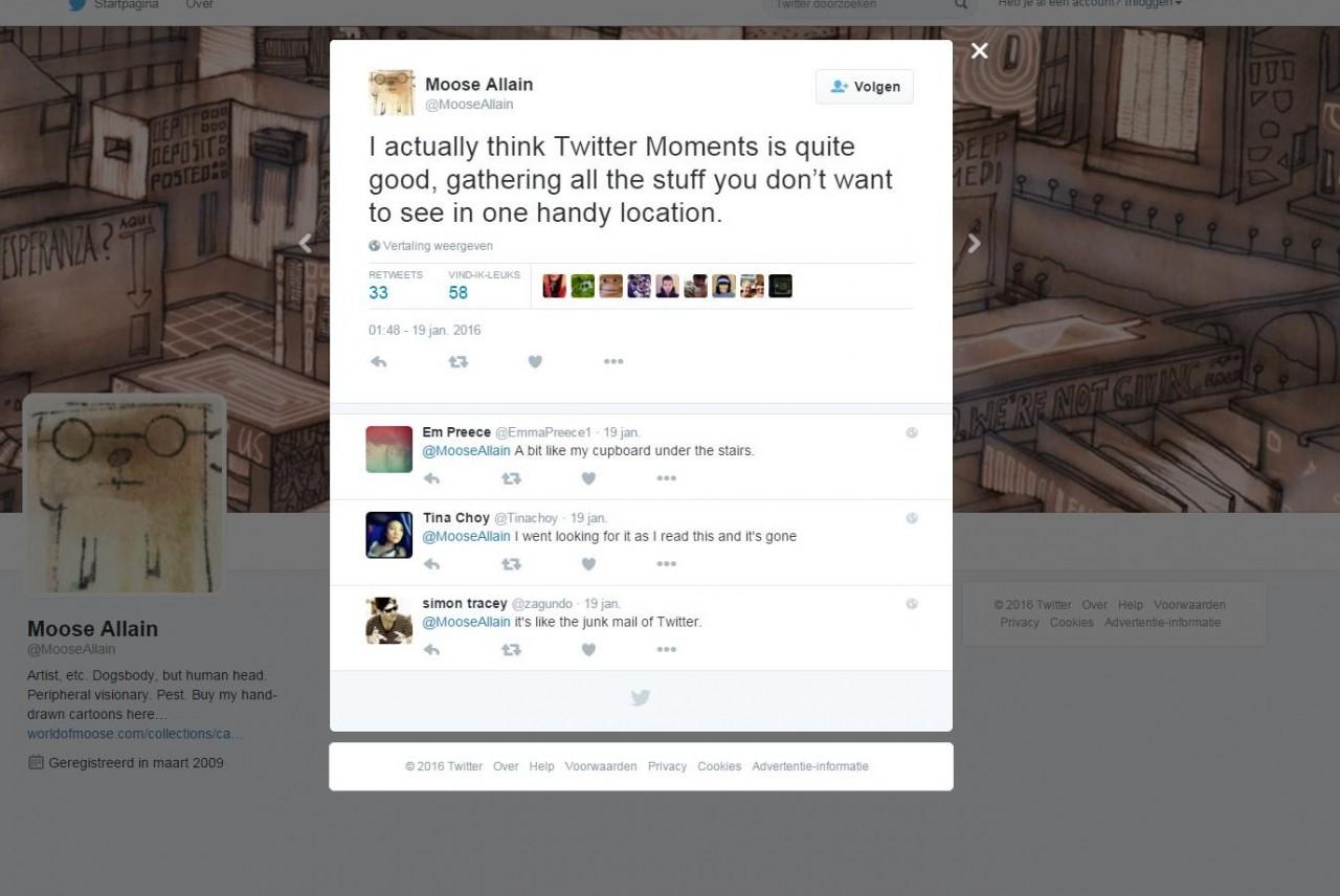 Is 'Moments' de redding van Twitter?